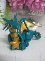Polymer clay star dragon by assassin-kitty