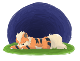 Sleep Well Young Growlithe by Anistice