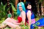 Bulma and Chichi by CheesyHipster