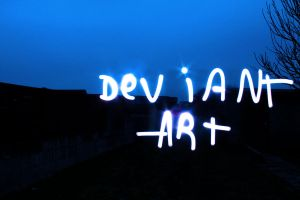 DeviantART lightpainting by PythonIt