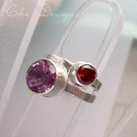 Faceted Amethyst Stacking Ring by che4u