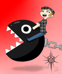 A Man and His Chain Chomp by The-Insignia