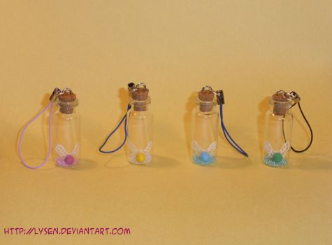 Bottled Fairy Charms by lysen
