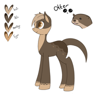 Adopt 02 - MLP Otter [OPEN] [60 POINTS] by crazydoodl3r