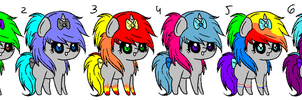 Scene Pony Adopts 1 by Rainbow-ninja-adopts