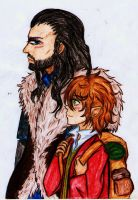 The Hobbit:Me and my little fellow by AlienaxD