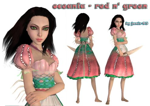 alice water dress new color by jomic-95