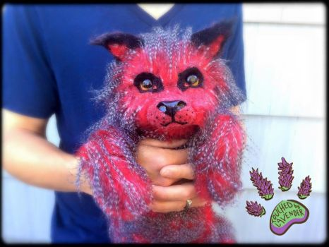 Fantasy Wolf Pup Red TBL handmade artdoll by TouchedbyLavender