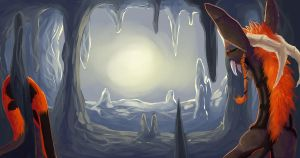 Moonlit Cave by ldefix