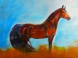 Horse Painting by Kawisaurus