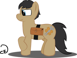 Cogsy with  Saddlebag by Cogs-Fixmore
