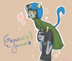 Nepeta and Equius: best meowrails by Lelzzy