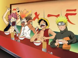 Ichiraku's bar meeting by CephiraOnamu