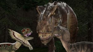 The three carnivores from Jurassic Park by kongzillarex619
