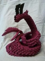 origami serpent dragon by kamui487