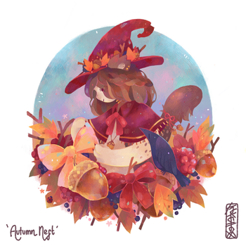 Commission   Autumn Nest by Naomame