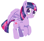 Pixel Twilight sparkle by saIadass