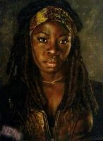 Michonne - The Walking Dead by NoraJacksonArt