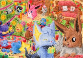 Christmas at Wigglytuff's Guild by Mystery-Vitani