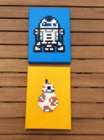 Star Wars: R2-D2 and BB8- Hama Canvas by Dogtorwho