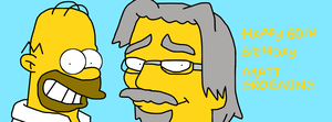 Happy 60th Birthday, Matt Groening by SuperMarcosLucky96