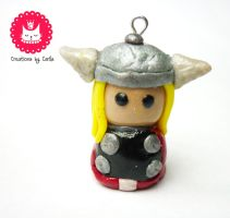 Thor the god of thunder polymer clay by phoenixcarla