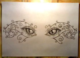 Eyes tattoo design... by RNAcid