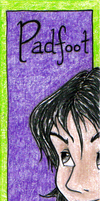 HP Bookmark: Padfoot by snow-white-kt