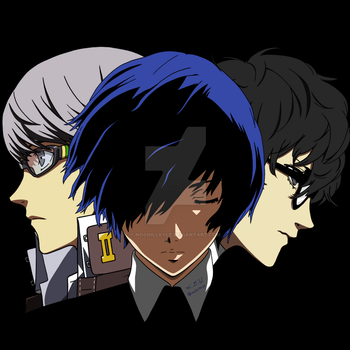 Persona Main Characters from 3-5 by nochillkyle