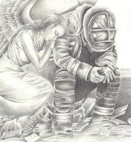 Angel and fireman by Laurasshadesofgrey