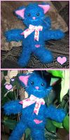Blue Kitty Plushie by bapity88