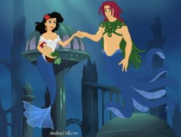 The Simpsons: The Terwilliger Family (merpeople) by Lizlovestoons12