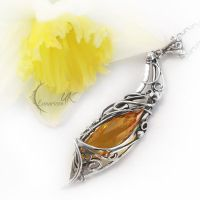 ISINTIEEL - silver , citrine and lemon quartz by LUNARIEEN