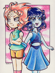Pearl and Lapis by LavosVsBahamut