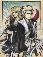 Hitsugaya and Matsumoto by Milwa-cz