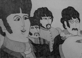 The Beatles- Yellow Submarine by denalim