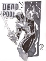 DEAD POOL MARKER SKETCH by JoeyVazquez