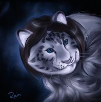 Snow leopard by Static-ghost