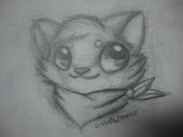 :Cat sketch: by PrePAWSterous