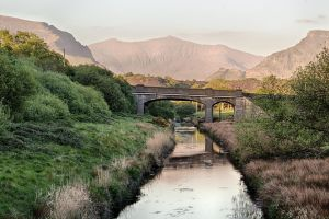 Bridge overlooking snowdon by CharmingPhotography