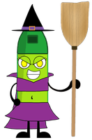 Bugspray As A Witch Vector by thedrksiren