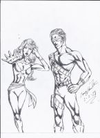 Cyclops and Pheonix!! by craig1992