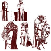 Tolkien doodles by I-see-ghosts