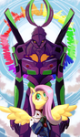 Commision. Fluttershinji and Unit Angel by Vivifx