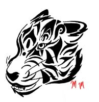 Tribal Tiger (cleaned up) by mikaylamettler