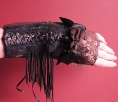 Steampunk Burlesque glove-cuff by Pinkabsinthe