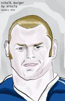 Schalk Burger by nikolabjovanovic