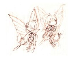 butterfly twins by silverei