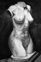 Charcoal, clay model study 1 by cbernhardt