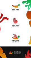 Foody Restaurants Logo design by ahmedelzahra